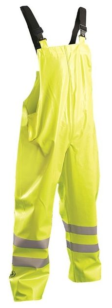 Occunomix Arc Flash Rated High Visibility Waterproof Bib Overalls LUX-TBIB/FR Front